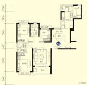 恒大名都3室2厅2卫124平方米户型图