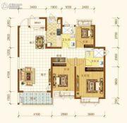 恒大海上帝景3室2厅2卫117平方米户型图