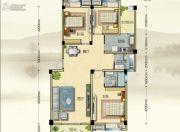博大江山如画二期3室2厅2卫121--122平方米户型图