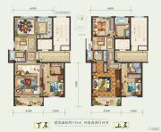 白鹿洲华府4室2厅4卫175平方米户型图