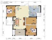 长高圆梦佳苑3室2厅1卫102平方米户型图