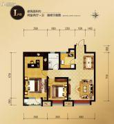 外滩・龙庭帝景2室2厅1卫0平方米户型图