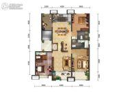 绿地・海珀天沅3室2厅3卫165平方米户型图