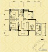 长江国际社区巴塞罗那庄园3室2厅1卫93平方米户型图