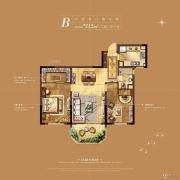 华新城�Z园2室2厅1卫112平方米户型图