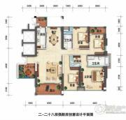锦绣御园4室2厅2卫174平方米户型图