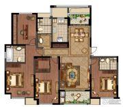 绿地峰云汇4室2厅3卫171平方米户型图