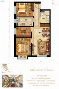 鸿坤原乡半岛3室2厅1卫90平方米户型图