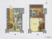 龙山大厦2室2厅1卫37平方米户型图