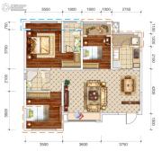 文泰欧城3室2厅2卫105平方米户型图