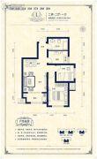 阳光揽胜2室2厅1卫82--84平方米户型图