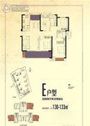 禹洲・剑桥学苑4室2厅2卫0平方米户型图
