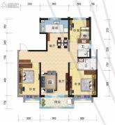 兰州碧桂园3室2厅2卫126平方米户型图