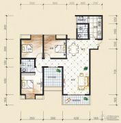 观音南部兴城3室2厅2卫123平方米户型图