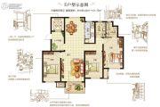 嘉洲灏庭3室2厅2卫139--141平方米户型图