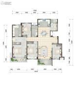 世合理想大地・望湖居5室2厅2卫188平方米户型图