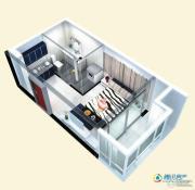 博辉戴河国际1室1厅1卫41平方米户型图