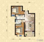 东方今典中央城2室2厅1卫97平方米户型图