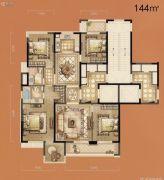 立体城5室2厅2卫144平方米户型图
