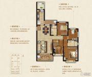 恒大悦珑湾4室2厅2卫137平方米户型图