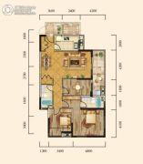 泰然南湖玫瑰湾2室2厅2卫125平方米户型图