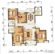 兰石豪布斯卡4室2厅2卫162平方米户型图