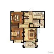 中粮鸿云2室2厅1卫74平方米户型图