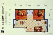 星河城2室2厅1卫106平方米户型图