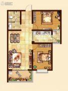 日百・市北依河园2室2厅1卫89平方米户型图