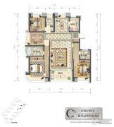 新湖国际3室2厅2卫167平方米户型图