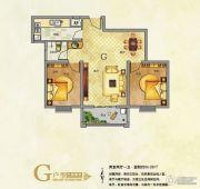 东京国际2室2厅1卫86平方米户型图