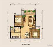 银海中心2室2厅1卫68平方米户型图