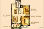 高成天鹅湖2室2厅1卫89平方米户型图