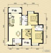 清河庄园3室2厅2卫125平方米户型图