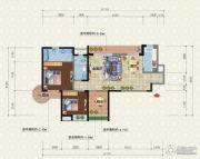 宜化新天地2室2厅2卫113平方米户型图