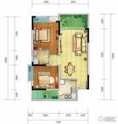 香颂湾Ⅱ期左岸香颂2室2厅1卫76--81平方米户型图