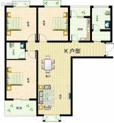 华众绿馨花苑3室2厅2卫136平方米户型图