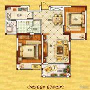 正商红河谷2室2厅1卫77--81平方米户型图
