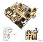 龙洲伊都3室2厅1卫117平方米户型图