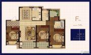 绿地华侨城海珀滨江3室2厅2卫145平方米户型图