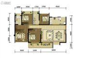 中铁诺德壹号4室2厅2卫126平方米户型图