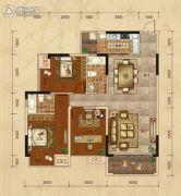 广汇・圣湖城3室2厅2卫104平方米户型图