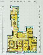 宝安・山水龙城4室2厅3卫192平方米户型图