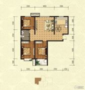 印象青城3室2厅1卫122平方米户型图
