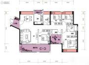 润城・双璧湾3室2厅1卫110平方米户型图