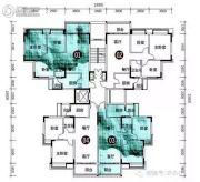 安南丽苑3室2厅1卫91平方米户型图