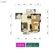 新加坡花园2室2厅1卫81平方米户型图