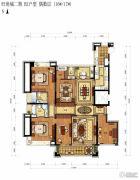 顺发旺角城二期5室2厅3卫0平方米户型图