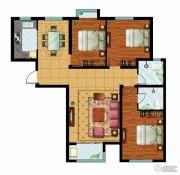 万国园奥洲领域3室2厅2卫131平方米户型图