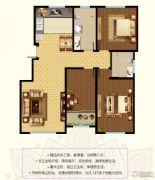 东郡3室2厅2卫131平方米户型图